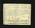 Colonial Notes:North Carolina, North Carolina December, 1768 20s Extremely Fine-About New....