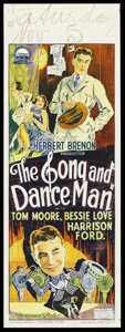"""Movie Posters:Drama, The Song and Dance Man (Paramount, 1926). Australian Daybill (15"""" X 40""""). Drama. Starring Tom Moore, Bessie Love, Harrison F..."""
