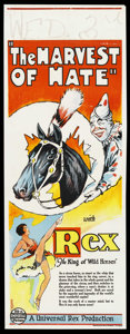 "Movie Posters:Western, The Harvest of Hate (Universal, 1929). Australian Daybill (15"" X 40""). ..."
