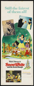 "Movie Posters:Animated, Snow White and the Seven Dwarfs (Buena Vista, R-1975). Insert (14""X 36""). Animated. Starring the voices of Adriana Caselott..."
