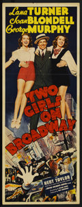 """Movie Posters:Musical, Two Girls on Broadway (MGM, 1940). Insert (14"""" X 36""""). Musical. Starring Lana Turner, Joan Blondell, George Murphy, Kent Tay..."""