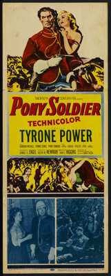 "Pony Soldier (20th Century Fox, 1952). Insert (14"" X 36""). Western. Starring Tyrone Power, Cameron Mitchell, T..."