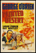 "Movie Posters:Western, Painted Desert (RKO, 1938). One Sheet (27"" X 41""). Western.Starring George O'Brien, Laraine (Day) Johnson, Ray Whitley, Sta..."