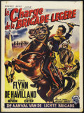 "Movie Posters:Action, The Charge of the Light Brigade (Warner Brothers, R-1950s). Belgian(14"" X 19""). Action. Starring Errol Flynn, Olivia de Hav..."