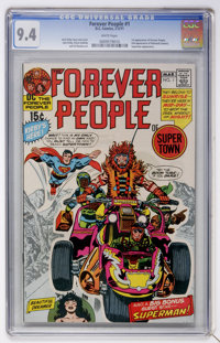 The Forever People #1 (DC, 1971) CGC NM 9.4 White pages