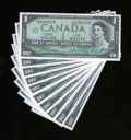 Canadian Currency: , BC-45ba-i $1 1967 Ten Consecutive Examples Gem Crisp Uncirculated..... (Total: 10 notes)