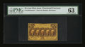Fractional Currency:First Issue, Fr. 1282sp 25¢ First Issue Narrow Margin Face PMG Choice Uncirculated 63....