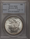 1878 7TF $1 Reverse of 1878 MS65 PCGS. PCGS Population (442/19). NGC Census: (444/24). Mintage: 4,900,000. Numismedia Ws...
