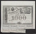 Confederate Notes:Group Lots, Ball 210 Cr. UNL $1000 Bond 1863 Very Fine.. ... (Total: 2 items)