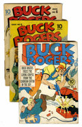 Golden Age (1938-1955):Science Fiction, Buck Rogers Group (Eastern Color, 1941-42) Condition: AverageGD.... (Total: 3 Comic Books)