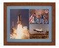 Autographs:Celebrities, Space Shuttle Challenger (STS-6) Crew-Signed Photo MontageDirectly from the Personal Collection of Mission Comman...