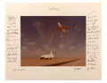 Autographs:Celebrities, Space Shuttle Enterprise Photo Signed by Thirty-FourAstronauts Directly from the Personal Collection of Astronaut...