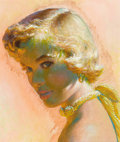 Pin-up and Glamour Art, EDWIN GEORGI (American, 1896-1964). Blonde. Mixed media onboard. 11 x 9.5 in.. Not signed. ...