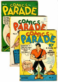 Golden Age (1938-1955):Miscellaneous, Comics On Parade #8-11 and 13 Group (United Features Syndicate, 1938-39).... (Total: 5 Comic Books)