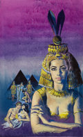 Pulp, Pulp-like, Digests, and Paperback Art, AMERICAN ARTIST (20th Century). Queen Cleopatra, paperbackcover, 1962. Gouache on board. 20.5 x 13 in.. Not signed. ...(Total: 2 Items)