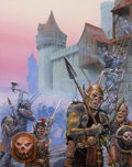 Pulp, Pulp-like, Digests, and Paperback Art, DOUG CHAFFEE (American, 20th Century). Hordes of Dragonspear,Advanced Dungeons and Dragons paperback cover, 1989. Acryl...