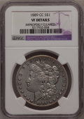 Morgan Dollars, 1889-CC $1 --Improperly Cleaned--NGC. VF Details....