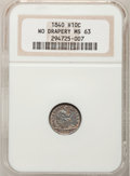 Seated Half Dimes: , 1840 H10C No Drapery MS63 NGC. NGC Census: (50/97). PCGS Population(53/71). Mintage: 1,000,000. Numismedia Wsl. Price for ...