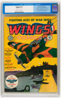 Golden Age (1938-1955):War, Wings Comics #1 Mile High pedigree (Fiction House, 1940) CGC NM/MT9.8 Off-white to white pages....