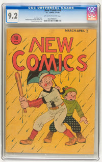 New Comics #4 (DC, 1936) CGC NM- 9.2 Off-white to white pages