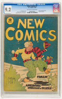 New Comics #1 (DC, 1935) CGC NM- 9.2 Off-white to white pages