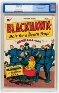 Golden Age (1938-1955):Adventure, Blackhawk #9 Mile High pedigree (Quality, 1944) CGC NM/MT 9.8 Off-white to white pages....