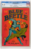 Golden Age (1938-1955):Superhero, Blue Beetle #1 (Fox Features Syndicate, 1939) CGC VF 8.0 Off-white pages....