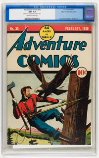 Adventure Comics #35 Mile High pedigree (DC, 1939) CGC NM- 9.2 Off-white to white pages