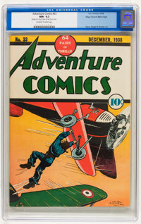 Adventure Comics #33 Mile High pedigree (DC, 1938) CGC NM- 9.2 Off-white to white pages
