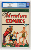 Platinum Age (1897-1937):Miscellaneous, New Adventure Comics #21 Mile High pedigree (DC, 1937) CGC NM 9.4White pages....