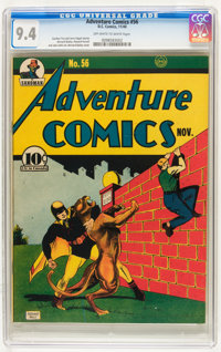 Adventure Comics #56 (DC, 1940) CGC NM 9.4 Off-white to white pages