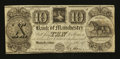 Obsoletes By State:Michigan, Manchester, MI- Bank of Manchester $10 Nov. 20, 1837. ...