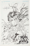 Memorabilia:Comic-Related, Michael Turner and D-Tron Witchblade Limited Edition Print#276/500 (Top Cow Productions, 1999)....