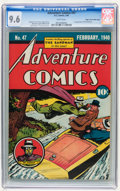 Golden Age (1938-1955):Superhero, Adventure Comics #47 Mile High pedigree (DC, 1940) CGC NM+ 9.6 White pages....