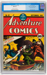 Adventure Comics #42 Mile High pedigree (DC, 1939) CGC NM 9.4 Off-white to white pages