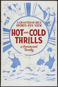 """Movie Posters:Sports, Grantland Rice Sports-Eye-View (Paramount, 1933). Stock One Sheet (27"""" X 41"""") """"Hot and Cold Thrills."""" Sports.. ..."""