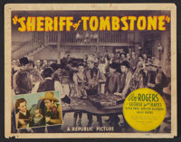 "Sheriff of Tombstone (Republic, 1941). Title Lobby Card and Lobby Cards (3) (11"" X 14""). Western. ... (Total:..."