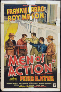 """Men of Action (Conn, 1935). One Sheet (27"""" X 41""""). Action"""
