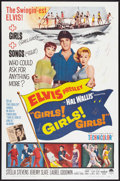 "Movie Posters:Elvis Presley, Girls! Girls! Girls! (Paramount, 1962). One Sheet (27"" X 41"").Elvis Presley.. ..."