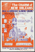 """Movie Posters:Sexploitation, Naughty New Orleans (Rebel Pictures, 1954). One Sheet (28"""" X 42"""").Sexploitation.. ..."""