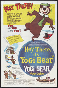 "Hey There, It's Yogi Bear (Columbia, 1964). One Sheet (27"" X 41""). Animated"