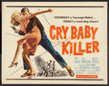 "Movie Posters:Crime, Cry Baby Killer (Allied Artists, 1958). Half Sheet (22"" X 28"").Crime.. ..."