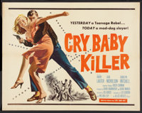 "Cry Baby Killer (Allied Artists, 1958). Half Sheet (22"" X 28""). Crime"