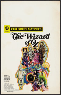"""The Wizard of Oz (MGM, R-1970). Window Card (14"""" X 22"""") Children's Matinees Style. Fantasy"""