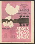 "Movie Posters:Rock and Roll, Woodstock (Warner Brothers, 1970). Herald (12"" X 15""). Rock andRoll.. ..."