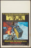 "Movie Posters:War, Where Eagles Dare (MGM, 1968). Window Card (14"" X 22""). War.. ..."
