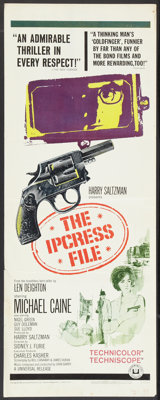 """The Ipcress File (Universal, 1965). Inserts (2) (14"""" X 36"""") Regular and Review Styles. Thriller. ... (Total: 2..."""