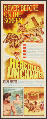 """Hercules Unchained and Others Lot (Warner Brothers, 1959). Inserts (3) (14"""" X 36""""). Action. ... (Total: 3 Item..."""