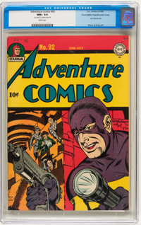 Adventure Comics #92 Double Cover - Mile High pedigree (DC, 1944) CGC NM+ 9.6 White pages
