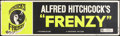 """Movie Posters:Hitchcock, Frenzy (Universal, 1972). Banner (24"""" X 82""""). Hitchcock.. ..."""